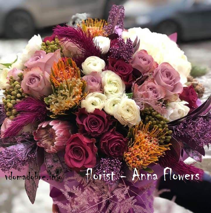 Квіткові букети від флориста  Anna Flowers