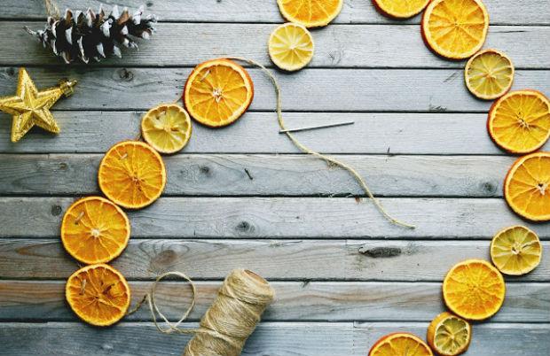 Як сушити апельсини для новорічного декору