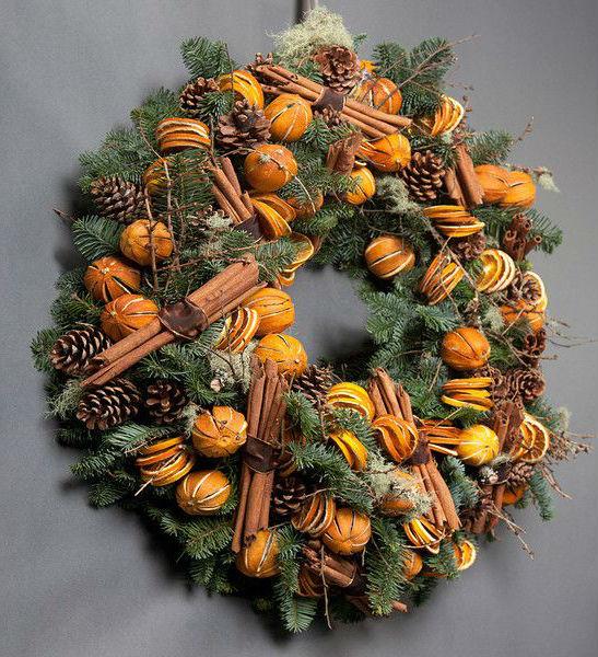 Высушенные апельсины для декора