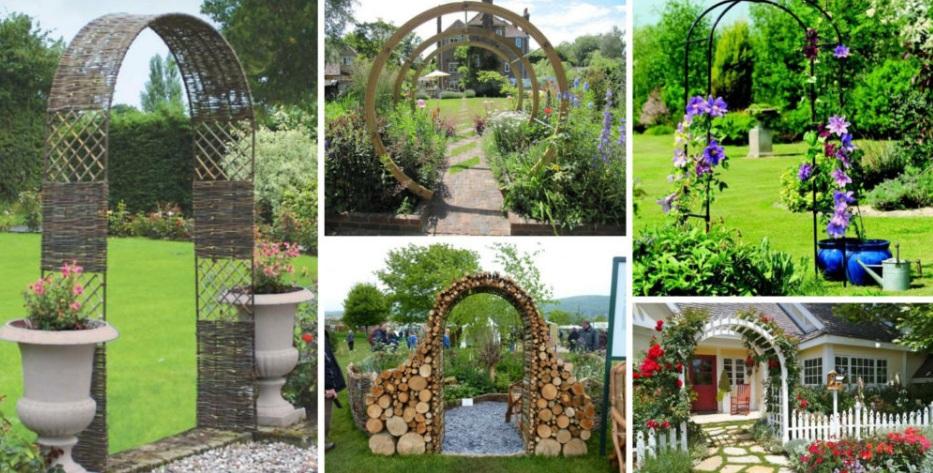 Ідеї використання садових арок на дачі