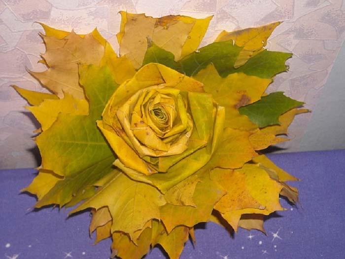 Поделки из клёновых листьев 40