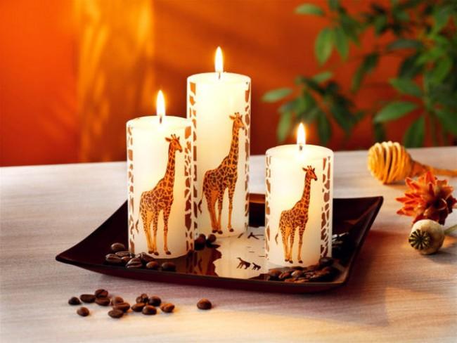 Декупаж свічок - кращі ідеї для святкового декору