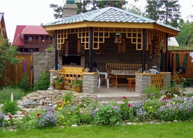 Садові альтанки - ідеї для натхнення