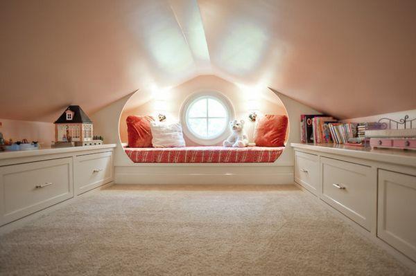 Дитяча кімната на горищі