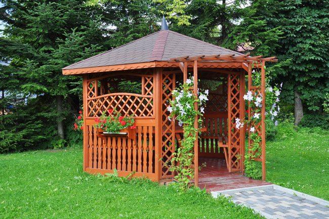 Решітка для альтанки - надихаюхі ідеї для саду
