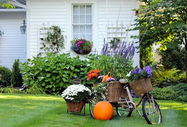 Ідеї осіннього декору для двору