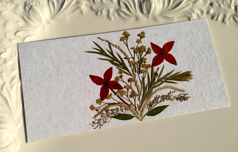 Картини з сухого листя - поробки