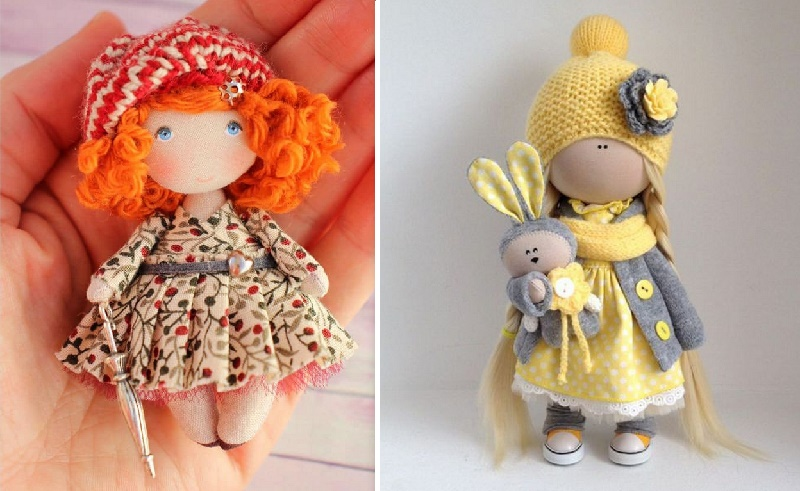 Ляльки з тканини. Викрійки
