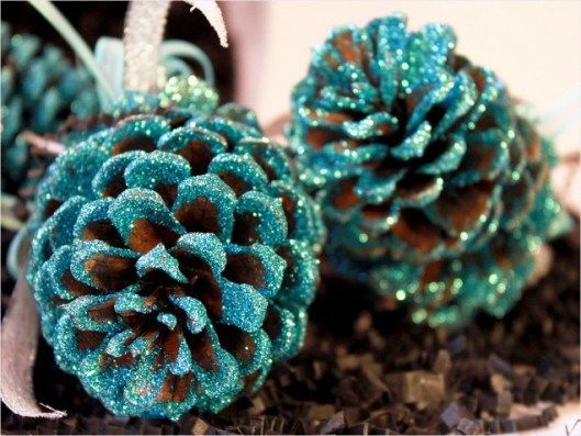 Красиві зимові композиції з природніх матеріалів
