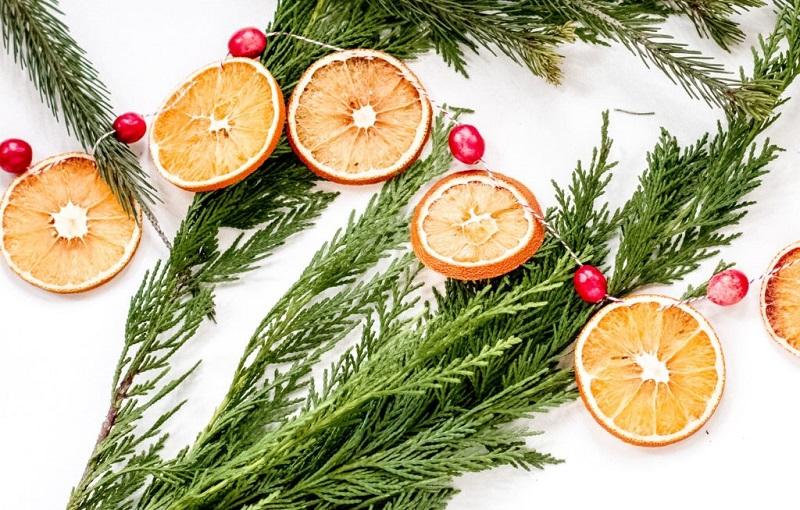 Композиції з мандаринок для новорічного декору