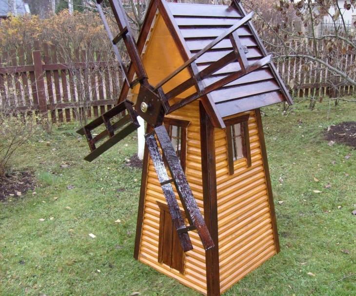 Как сделать декоративную мельницу в саду 407