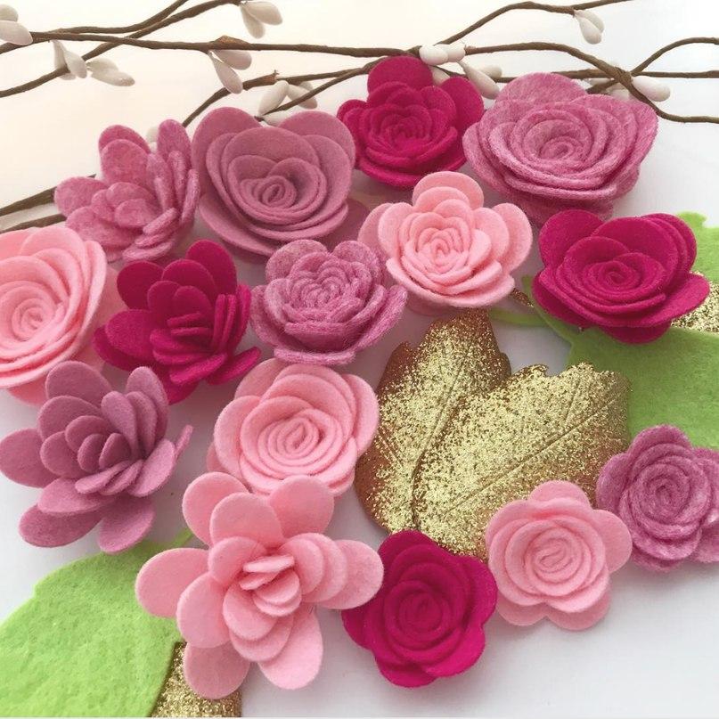 Квіти з фетру (Шаблони)