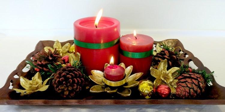 новорічні свічки