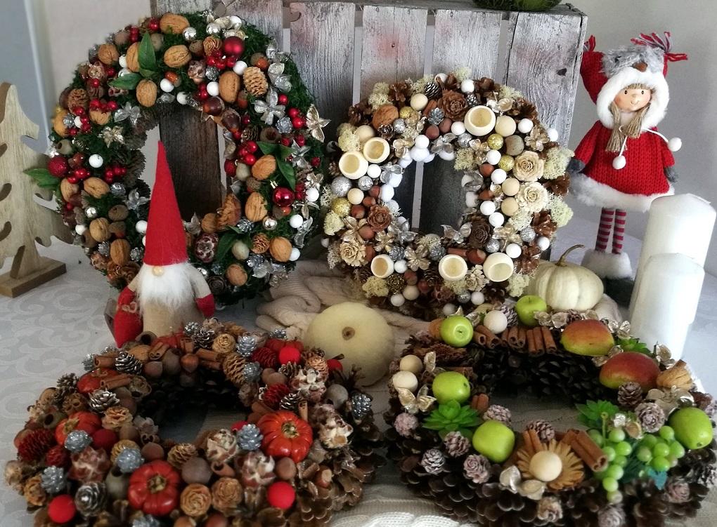 Новорічні, різдвяні віночки з природних матеріалів. Ідеї