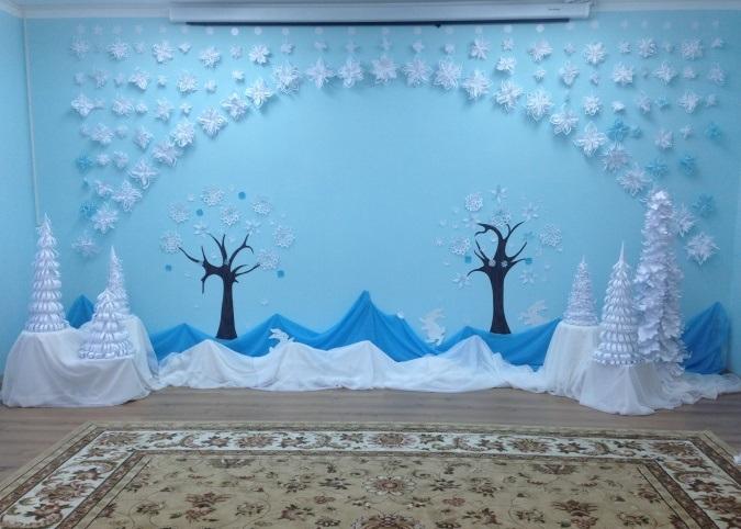 Зимові декорації для садочку, школи