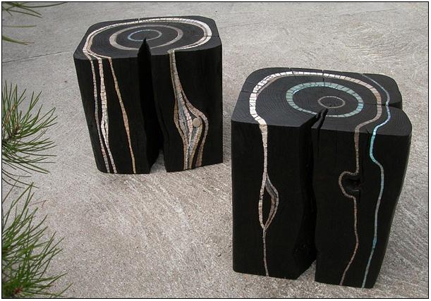 Оригінальні стільці з дерева