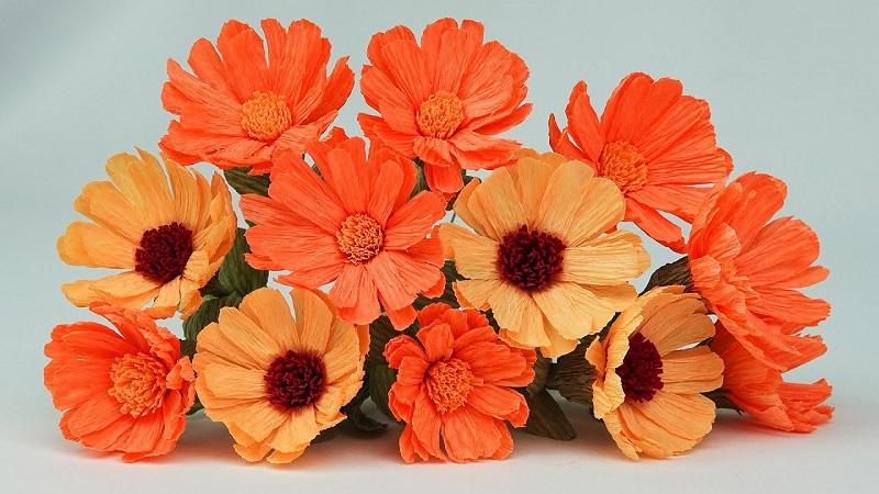 Осінні квіти з паперу