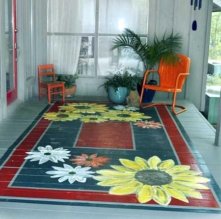 Як пофарбувати дерев'яну підлогу на дачі