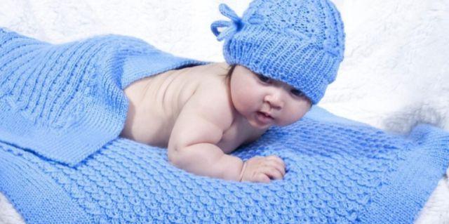 Плед для новонародженого своїми руками
