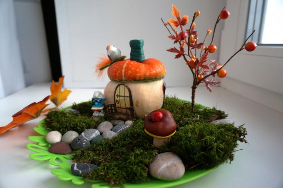 Поробки з природного матеріалу на тему осінь