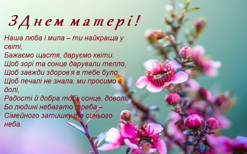 Привітання до Дня матері в картинках, відкритках