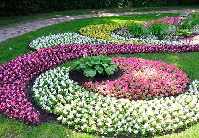 Регулярний стиль  - ідеї для квітників