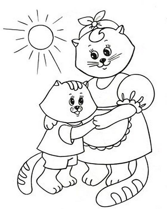 Дитячі розмальовки до Дня матері   Рукоділля 3eff6343e1230