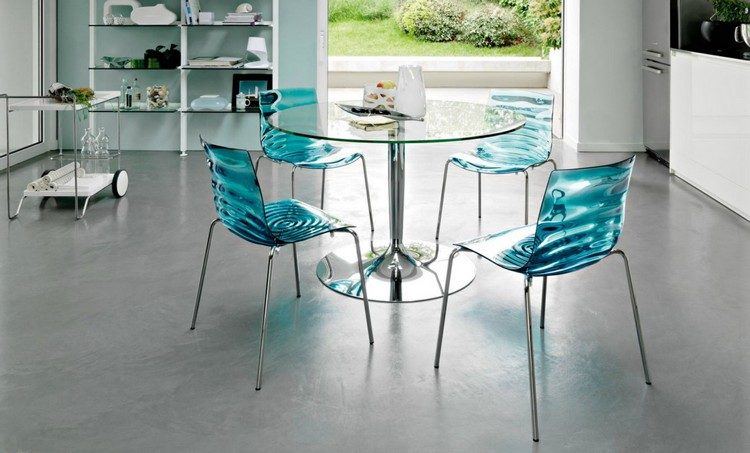 Скляні меблі в інтер'єрі