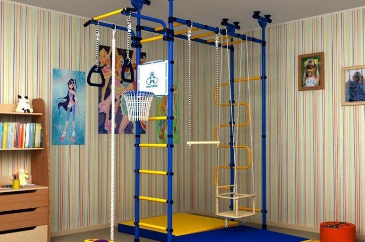 Куточок для спорту в дитячій кімнаті