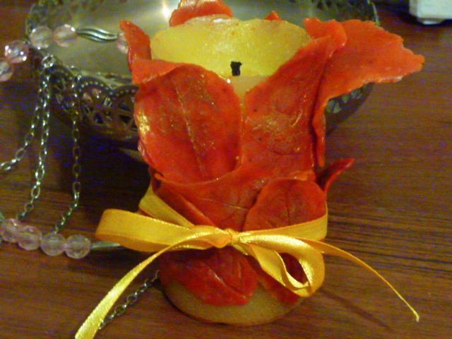 Декорація свічки своїми руками