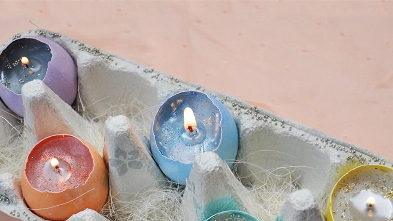 Як зробити свічку з шкарлупи яйця