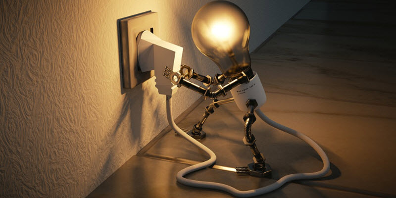 Настільна лампа з вторинної сировини
