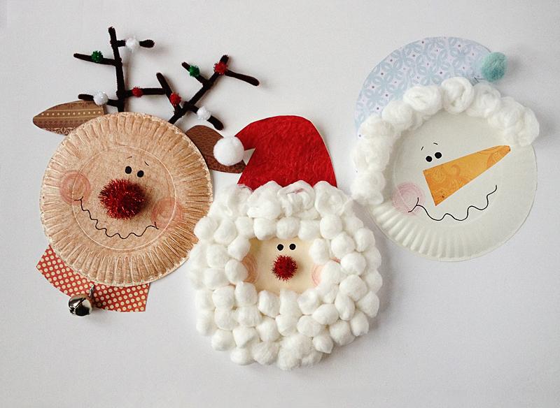 Вироби з пластмасових тарілок на Новий рік