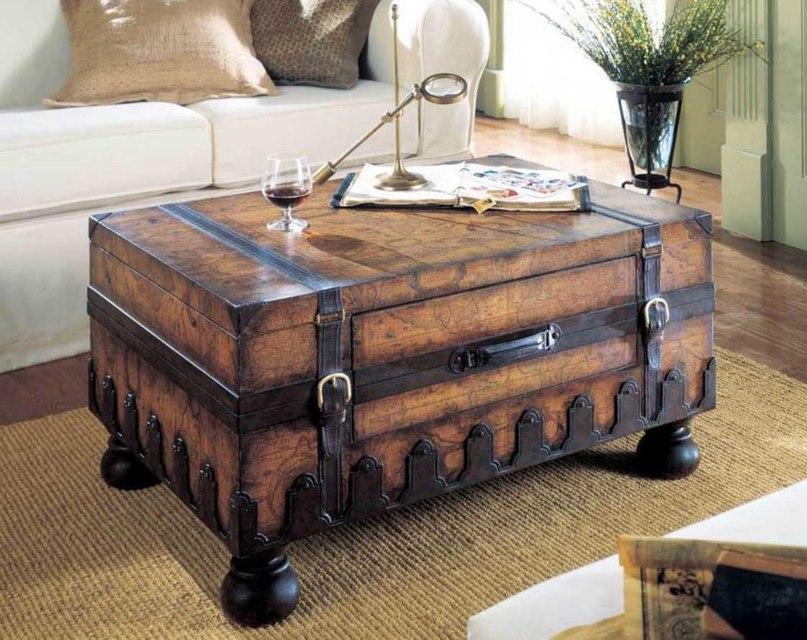 Старі валізи в дизайні інтер'єру