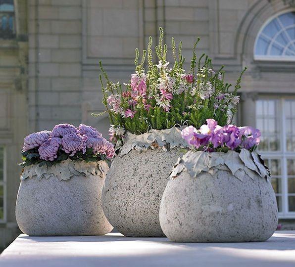 Садові вазони своїми руками