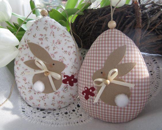 Пасхальний декор з тканини