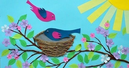 Красиві весняні вироби з паперу