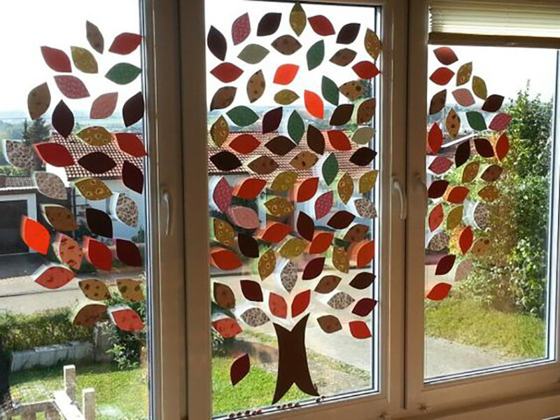 39 - Fensterdekoration herbst grundschule ...