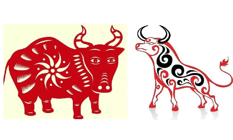 Бик та корова - символ 2021. Витинанки
