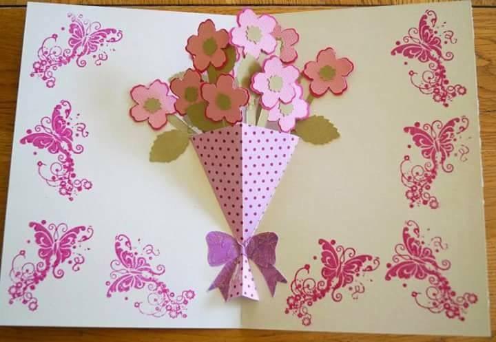 Весняні листівки своїми руками